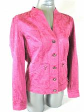 Buy AMBER SUN womens Small L/S pink floral RHINESTONE BUTTONS 2 pocket jacket (A2)M