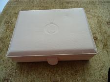 Buy PANDORA Bracelet Charm Ring Travel Jewelry Leather Box Cream Off White
