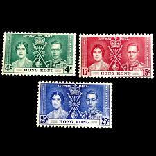 Buy Hong Kong 1937 Royal Coronation Omnibus Set Of 3 SG# 137-139 Postage Stamps