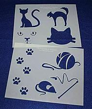 """Buy Cat-Cat Toy Stencils Mylar 2 Pieces of 14 Mil 8"""" X 10"""" - Painting /Crafts/ Templ"""