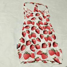 Buy Roberto cavalli Tank beachwear just roberto cavalli strawberry print size XS