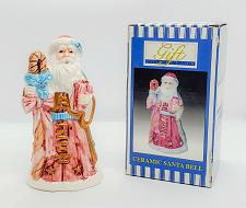 Buy Vintage Ceramic Santa Claus Bell by Christmas Eve Loomco NEW IN BOX