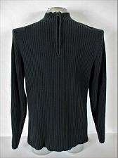Buy XG mens Large black gray 1/2 ZIP RIBBED cotton blend sweater (A7)