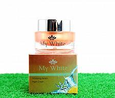 Buy MY WHITE WHITENING KERATIN NIGHT CREAM ANTI AGAING ACNE FRECKLES DARK SPOT+TRACK