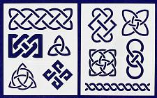 Buy Celtic Knot Stencils 8 X 10 Inches -Mylar 2 Pieces