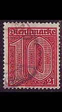 Buy GERMANY REICH Dienst [1920] MiNr 0017 ( O/used )