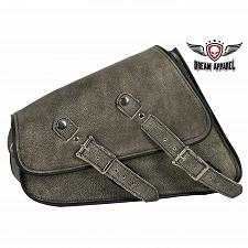 Buy Motorcycle Right Side Swing Arm Bag Distressed Brown Leather Universal Fitting