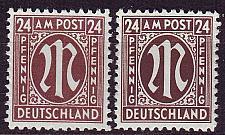 Buy GERMANY Alliiert AmBri [1945] MiNr 0027 B ( **/mnh ) [01]