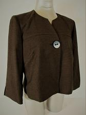 Buy DRESSBARN womens Sz 10 L/S brown 1 button FULLY LINED jacket (A3)