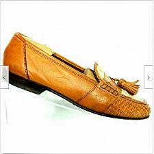 Buy Cole Haan Resort Men's Brown Leather Basket Weave Tassel Slip On Loafer 10 M