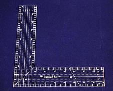 """Buy 9"""" L-Shaped Ruler. Acrylic 1/8"""" thick. Quilting/Sewing - Acrylic"""
