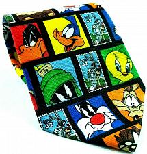 Buy Looney Tunes Stamp Collection Bugs Daffy Marvin Tweety Taz Novelty Necktie