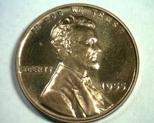 Buy 1955 LINCOLN CENT PENNY GEM / SUPERB PROOF RED NICE ORIGINAL COIN BOBS COINS