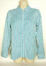 Buy Talbots Petites Women's Popover Shirt Size 4P Blue White Striped Long Sleeve