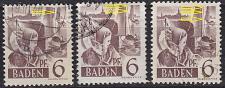 Buy GERMANY Alliiert Franz. Zone [Baden] MiNr 0015 y I,II,II ( O/used ) [01]