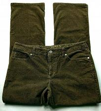 Buy Sonoma Women's Boot Cut Casual Corduroy Pants Size 10P Solid Brown Stretch