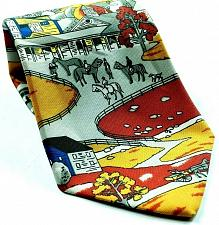 Buy Horses Small Town Life Buildings Trees Stables Novelty Necktie