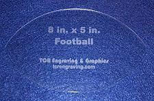 """Buy Football Shaped Quilting and Sewing Template- 1/8"""" or 1/4"""""""
