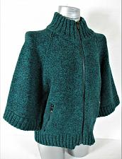 Buy JONES NEW YORK womens 3/4 SLEEVE green FULL ZIP CARDIGAN SWEATER (A2)P