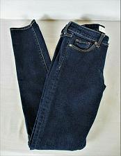 Buy ABERCROMBIE & FITCH womens Sz 0R W25 L31 blue denim dark wash jeans (B5)