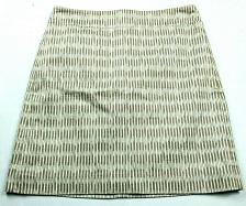 Buy Loft Womens A Line Skirt Petite 0P Tan Striped Lined Back Zip