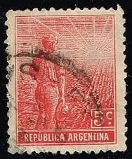 Buy Argentina #194 Farmer and Rising Sun; Used (0.30) (3Stars) |ARG0194-07XBC
