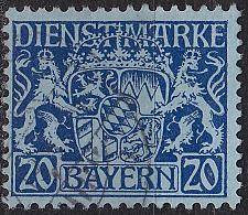 Buy GERMANY Bayern Bavaria [Dienst] MiNr 0020 v ( O/used )
