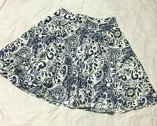 Buy Lauren Ralph Lauren Nwot Skirt Blue & White Floral Cotton Size Petite 6P