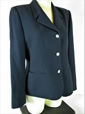 Buy KASPER womens Sz 10 L/S navy 2 POCKET button down LINED jacket (P)