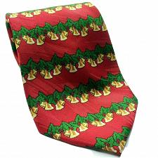 Buy Keith Daniels Christmas Bells Holly Berries Red Green Novelty Polyester Necktie