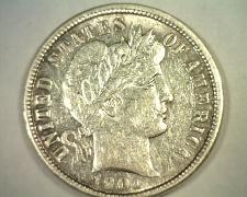 Buy 1901 BARBER DIME ABOUT UNCIRCULATED AU NICE ORIGINAL COIN BOBS COINS FAST SHIP