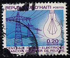 Buy Haiti #617 Power Lines and Light Bulb; Used (0.25) (1Stars) |HAI0617-02XVA