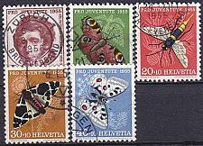 Buy SCHWEIZ SWITZERLAND [1955] MiNr 0618-22 ( O/used ) [02] Pro Juventute