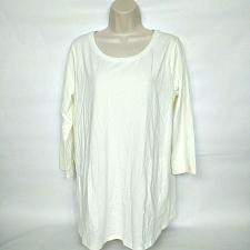 Buy Isaac Mizrahi Live! 3/4-Sleeve Knit Tunic with Pockets Size Medium White