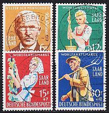 Buy GERMANY Saar [1957] MiNr 0441-44 ( O/used )