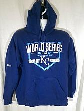 Buy Kansas City Royals 2014 World Series Fall Classic Hoodie Men's Large Blue
