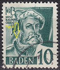 Buy GERMANY Alliiert Franz. Zone [Baden] MiNr 0033 y II ( O/used ) [01]