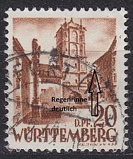 Buy GERMANY Alliiert Franz. Zone [Württemberg] MiNr 0021 y I ( O/used )