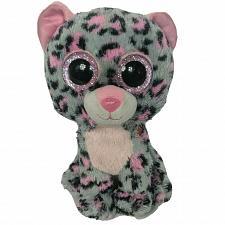 "Buy Ty Beanie Boo Tasha Grey Pink Leopard Glitter Plush Plush Stuffed Animal 2015 6"""