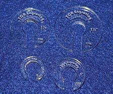 """Buy 4 Hopper Foot Offsets for 7/16"""" Foot - Template - Quilting"""