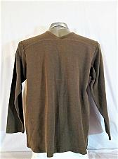 Buy J.CREW mens Large Tall LONG SLEEVE BROWN V NECK SWEATER (F)