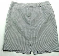 Buy Talbots A Line Petite Skirt Size 14WP Blue White Striped Front Zip Belt Loops
