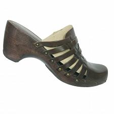 Buy Kenneth Cole Reaction Womens Brown Leather Strappy Clogs Shoes Size 11 M