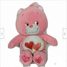 "Buy Care Bears Love A Lot Bear Pink Hearts Plush Stuffed Animal 2002 11"""