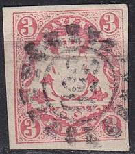 Buy GERMANY Bayern Bavaria [1867] MiNr 0015 ( O/used ) [01]