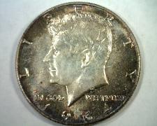 Buy 1964 KENNEDY HALF DOLLAR CHOICE UNCIRCULATED/ GEM SUPER ATTRACTIVE TONING/ COLOR