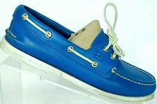 Buy Sperry Top Sider Womens Royal Blue Leather Lace Up Boat Deck Shoes 7.5 M