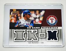 Buy MLB IAN KINSLER RANGERS 2009 UPPER DECK QUAD GAME WORN JERSEY MNT