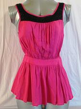 Buy FOREVER 21 womens Small SLEEVELESS EMBELLISHED BEADED PINK TOP (C)