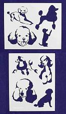 """Buy Poodle Dog Stencils-Mylar 2 Pieces of 14 Mil 8"""" X 10"""" - Painting /Crafts/ Templa"""